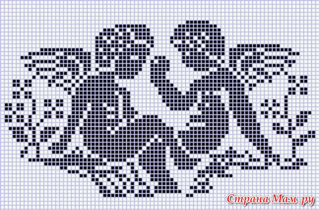 *Филейное вязание-схемы
