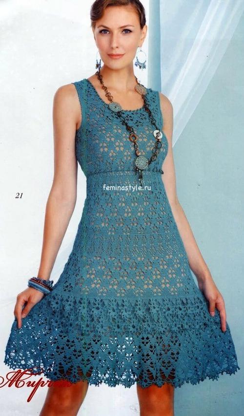 Вязание летнего платья в стиле