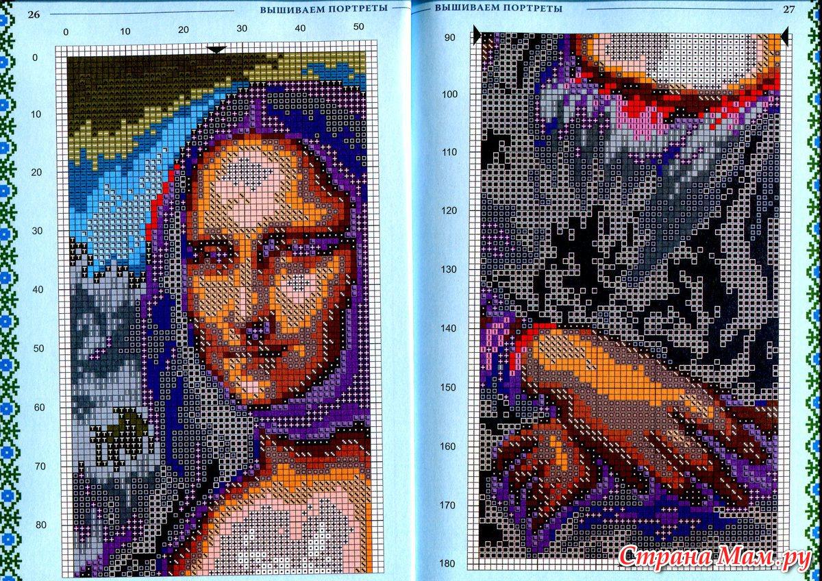 Схемы вышивок своих портретов 240