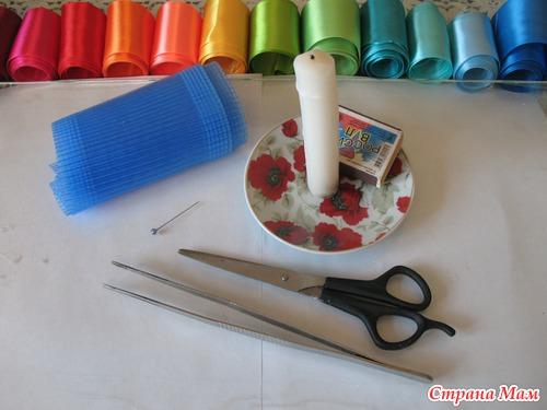 МК лепестка из гофрированной ленты