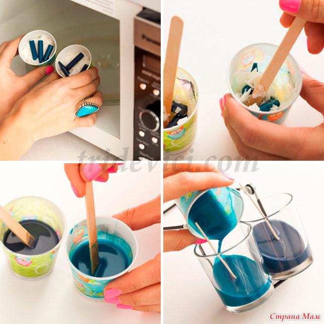 Как сделать свечку руками
