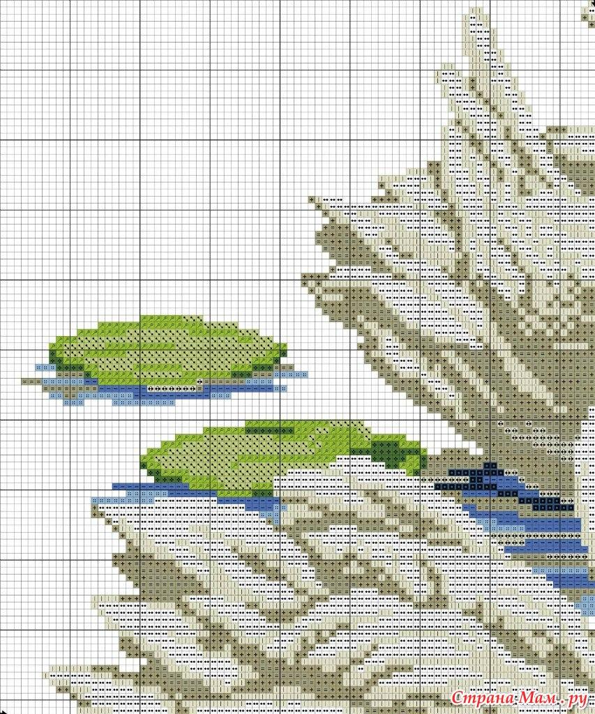 Лебеди вышивка крестом в схемах (фото) - ВЫШИВАШКА 13