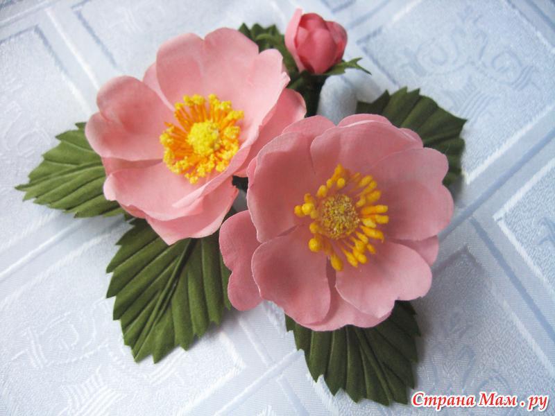 Цветы шиповника своими руками