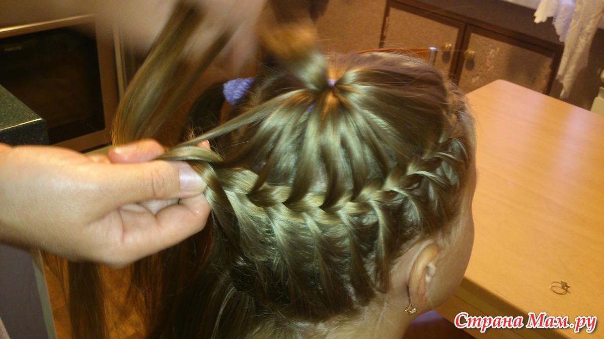 Прически для волос плетение фото для девочки