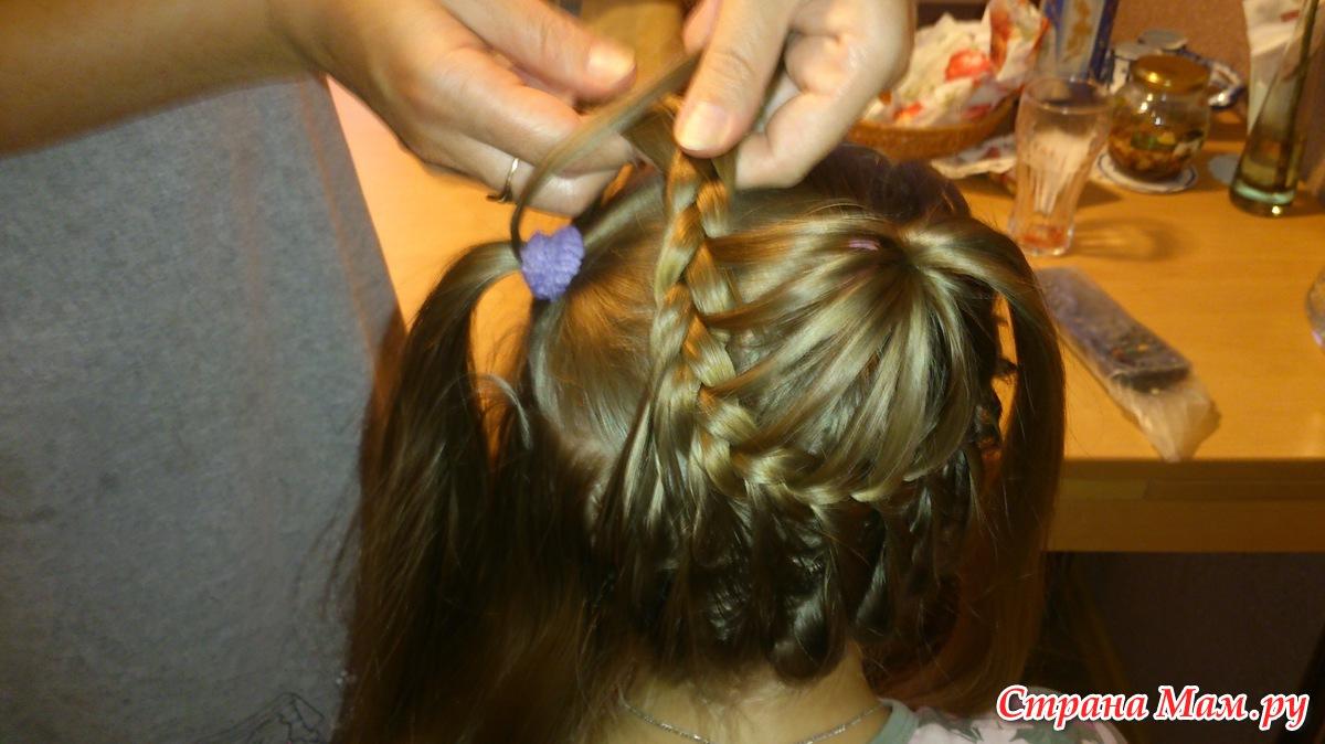 Причёска на 1 сентября девочке на жидкие волосы