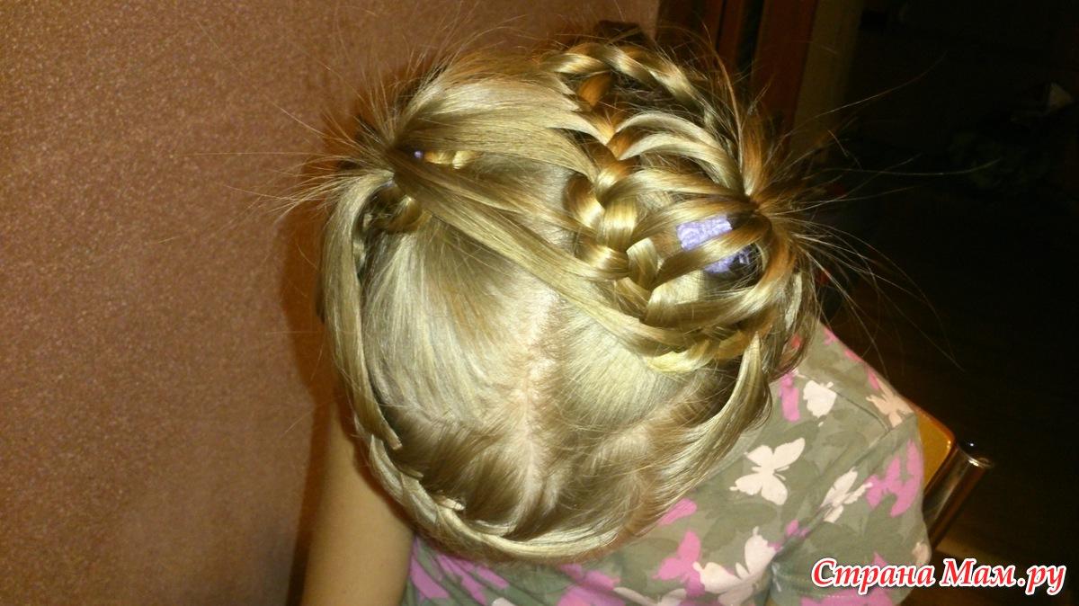 Плетение из хвостиков для девочки