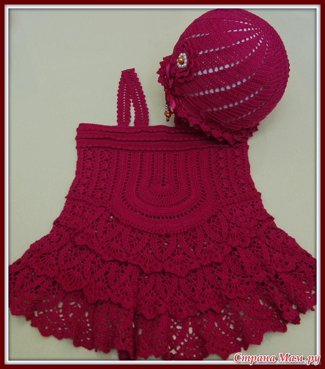 Страна мам вязание крючком топика для девочки