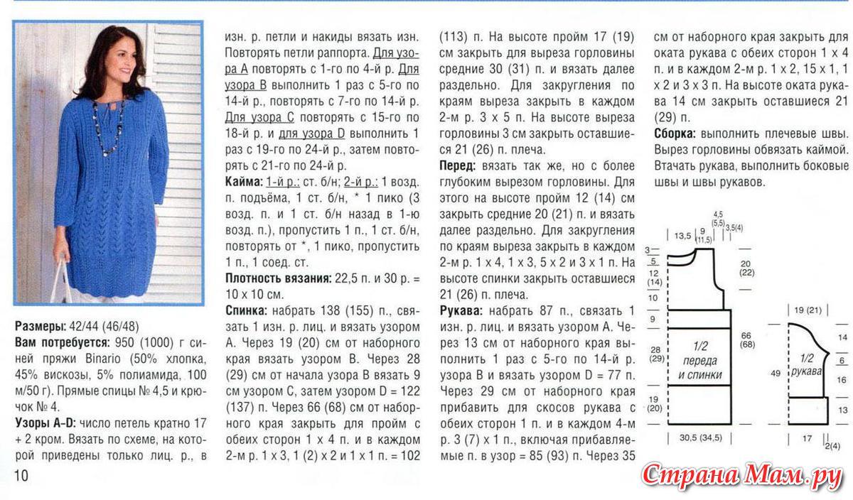 Подробное описание вязания кардигана на размер 56 78
