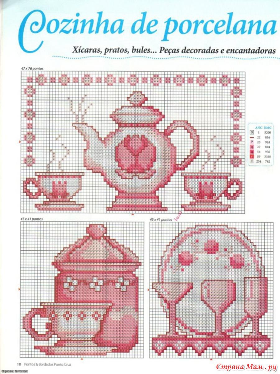 Схемы для вышивки на кухонную тематику