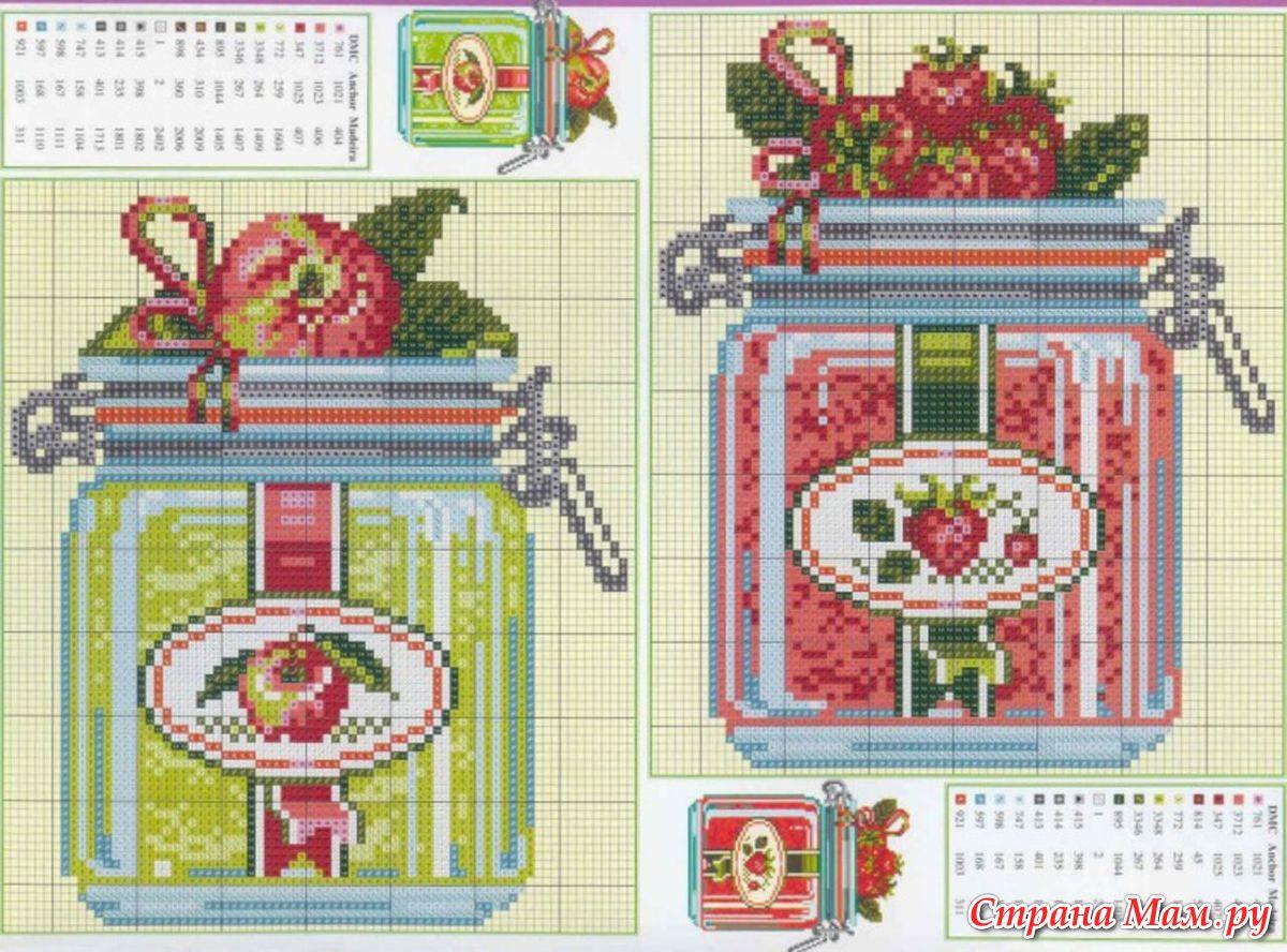 На кухню - схемы вышивки крестом скачать бесплатно, xsd 69