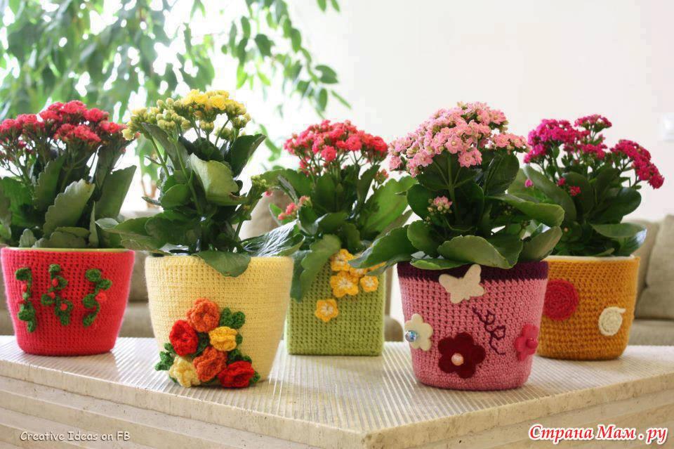 Идеи для оформления цветочных горшков