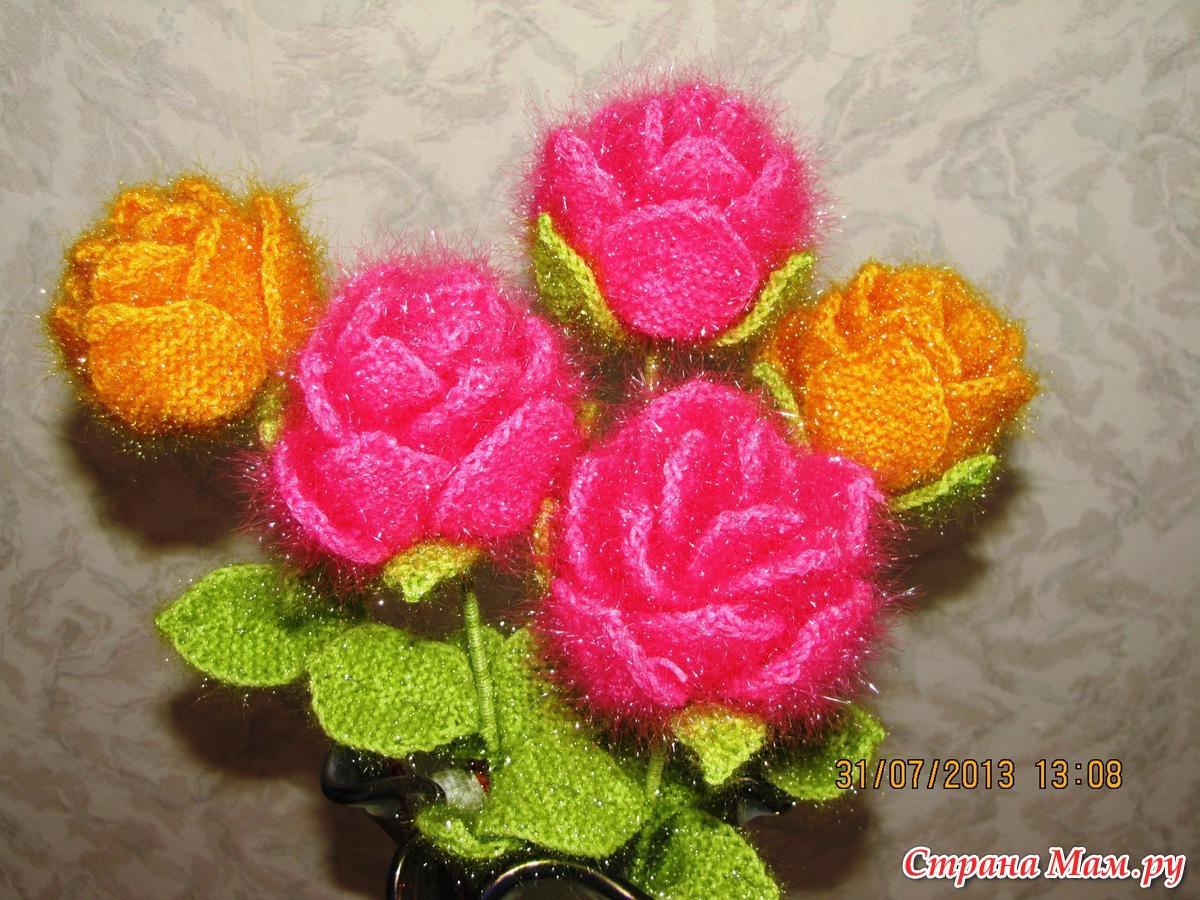 Цветы из ниток вязанные крючком