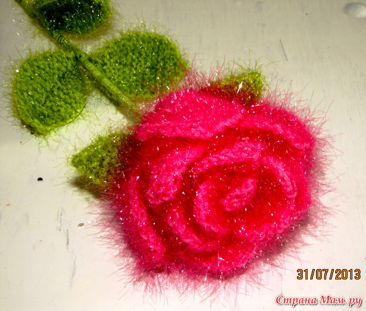 Вязание чашелистика для роз крючком