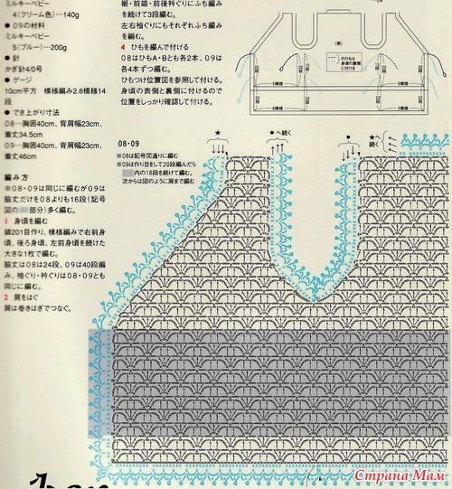 Для новорожденных вязание жилета