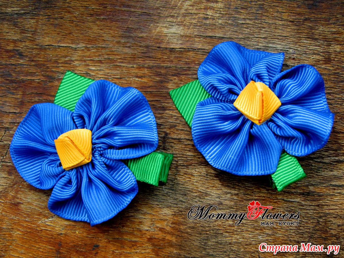 Цветы из ткани для волос своими руками мастер класс