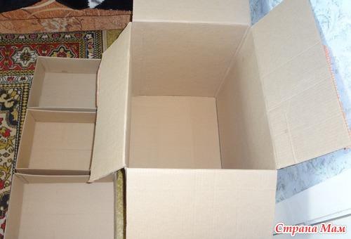 Как сделать из коробки комодик своими руками 70