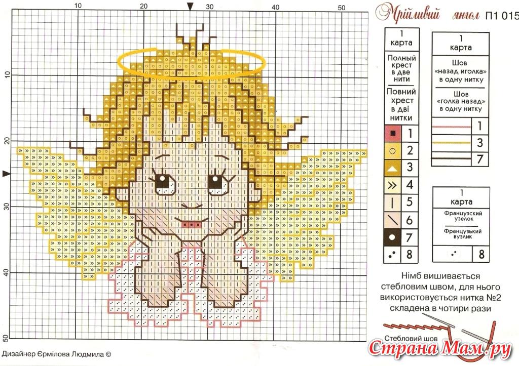 Цветные схемы вышивки дети