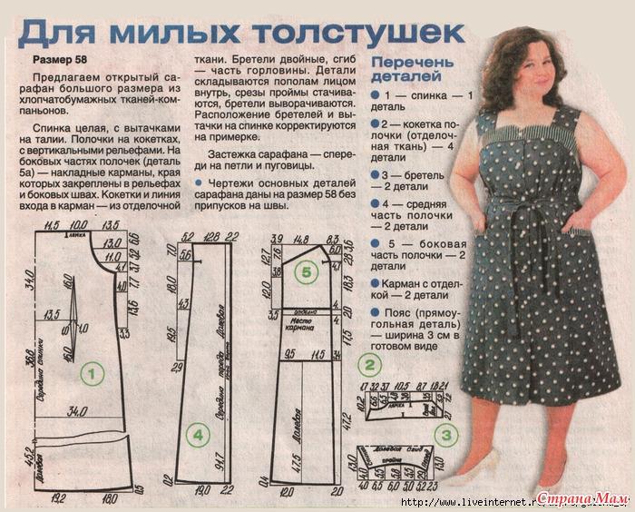Летнее платье для полных сшить