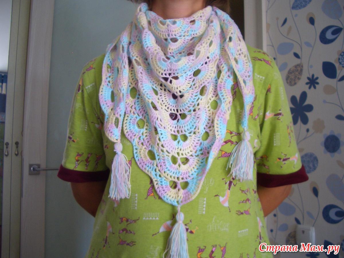 Шейный платок крючком фото