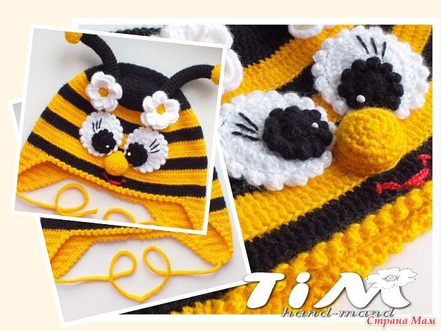 Шапочка пчелка для моей дочки