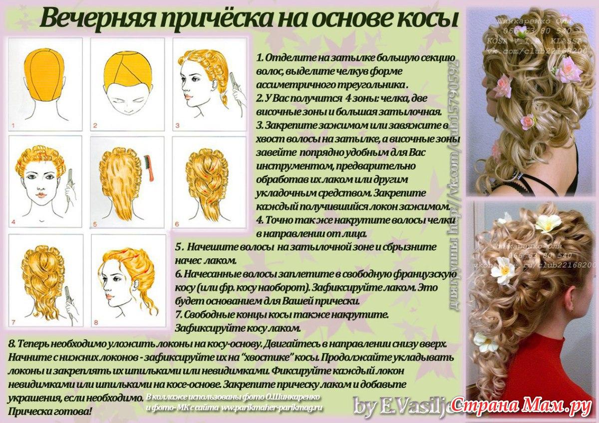 вечерние прически на длинные волосы и их описание