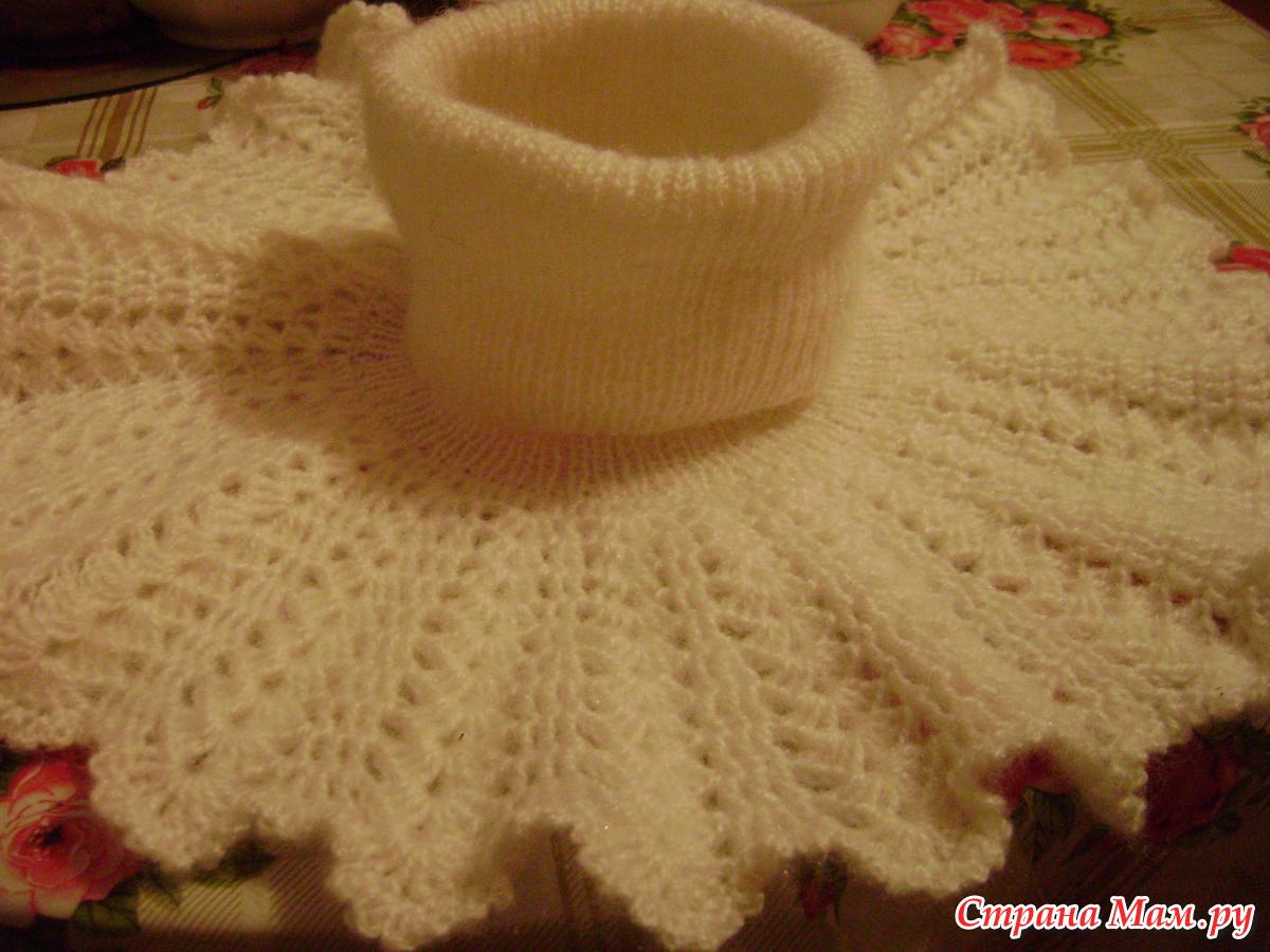 Вязание на спицах манишки фото