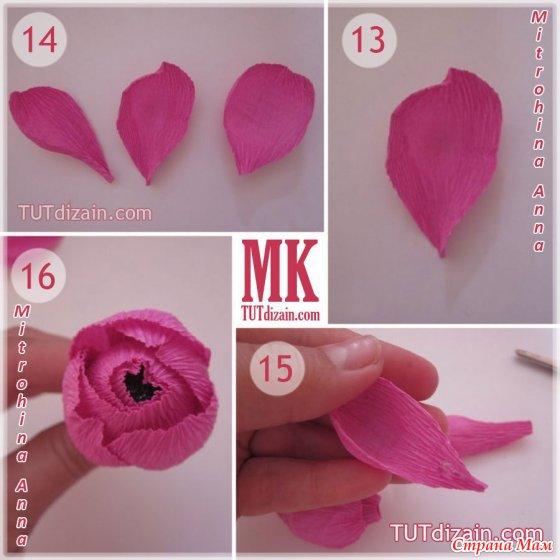 Розы из гофры с конфетами своими руками