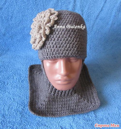 Видеоурок вязания шапки шлема спицами