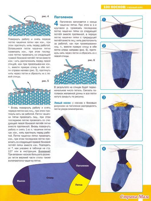 Вязание детские носки круговое
