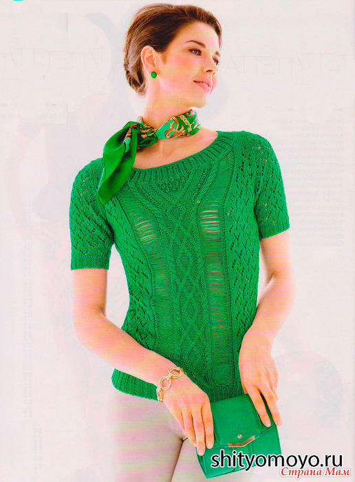 Вязание спицами летней кофты для девушек