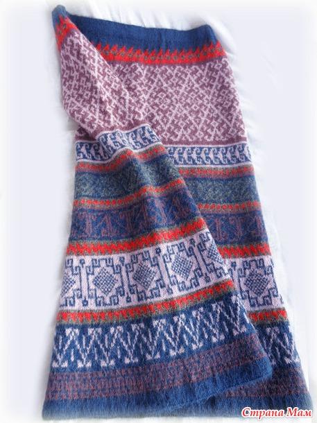 Вязание юбки из фрагментов