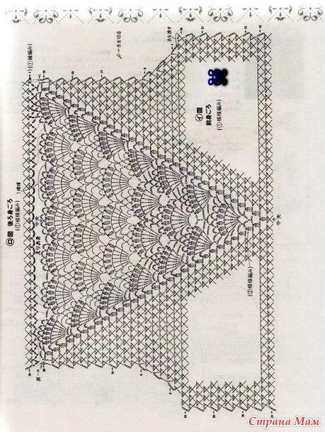 Вязание крючком для вставки 965