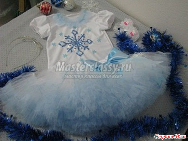 Костюм снежинка для девочки своими руками фото