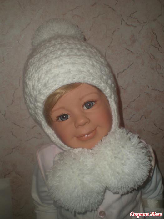 вязание шапки для мальчика с закрытыми ушками