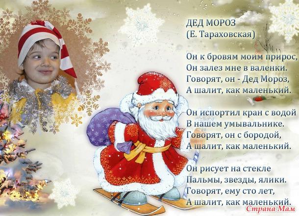 Стишок для деда мороза на новый год