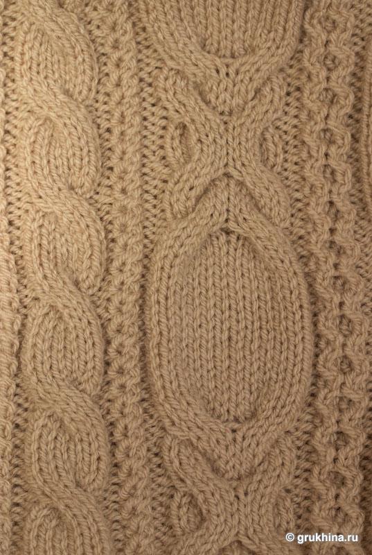 Вязание узорами мехом