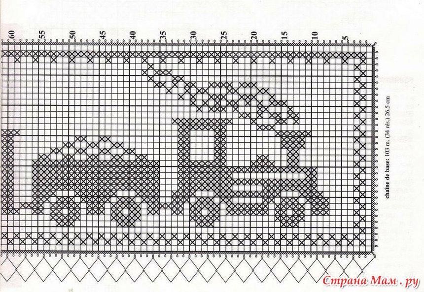 Узоры филейного вязания схемы для детей