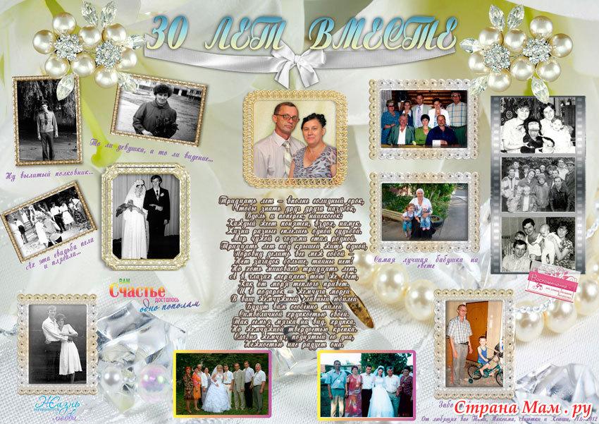 Плакат к годовщине свадьбы своими руками