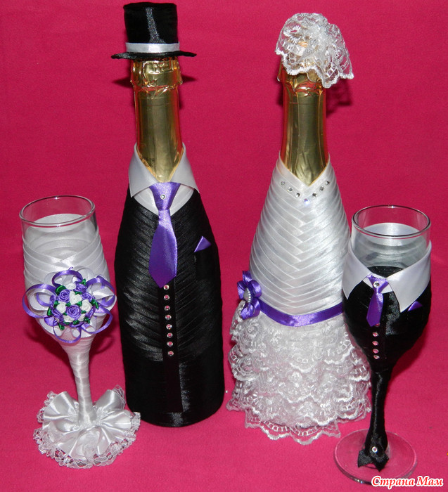 Шампанское Жених и Невеста... и не только :))) много фоток работ - Страна Мам