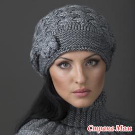 Вязанные береты и шапки для женщин