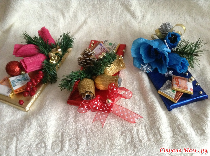 Оформление шоколадки к новому году своими руками