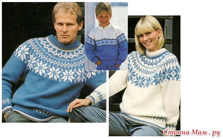 Вязание кругового узора для свитера