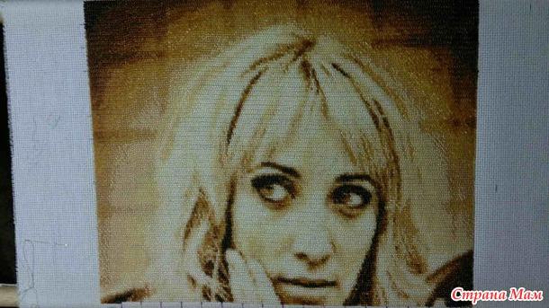 Вышиваем бисером портрет в