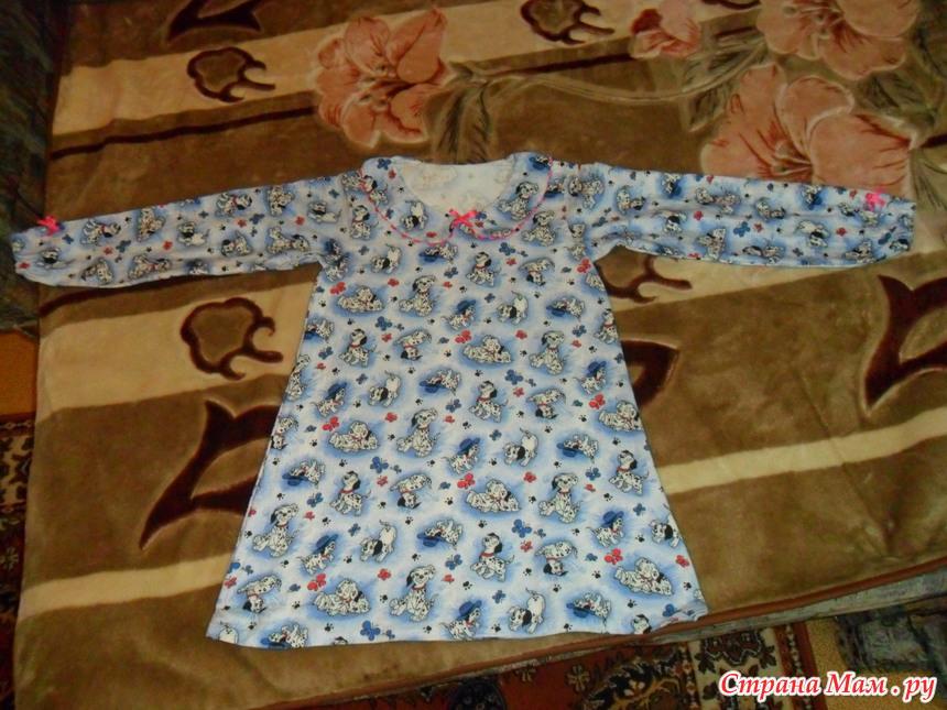 Детские платья из фланели