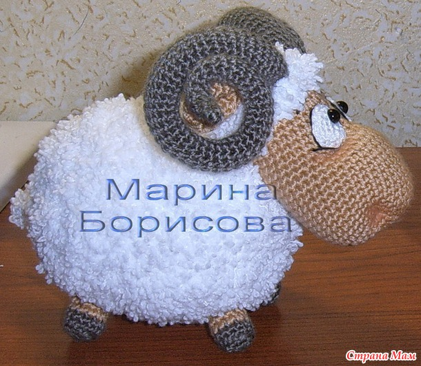 Овцы вязанные крючком
