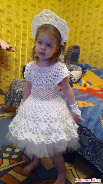 платье снежинки вязаное модадром