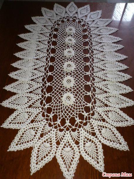 Вязание салфеток на стол 124