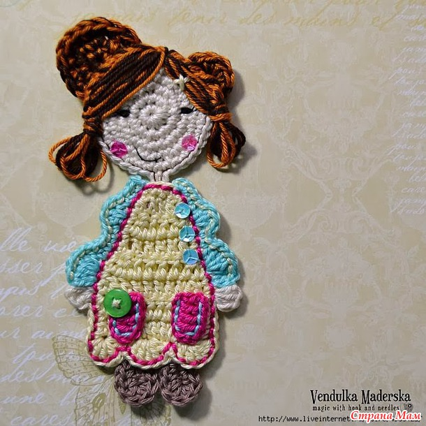 Sweet girl applique от Vendulka Maderska. Мастер-класс.