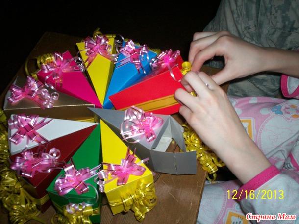 Подарок девочке своими руками из бумаги