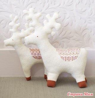 Рождественские олени. Выкройка